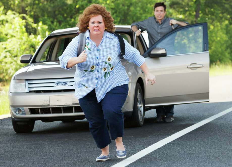 "Melissa McCarthy and Jason Bateman star in ""Identity Thief,"" opening Feb. 8, 2013. Photo: Universal Studios"