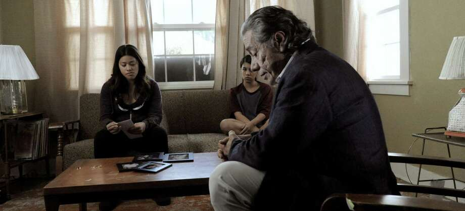 "Gina Rodriguez and Edward James Olmos star in ""Filly Brown."" Photo: COURTESY PHOTO"