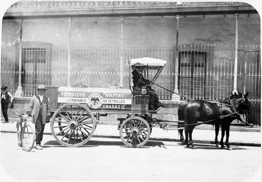 """Petrol Wagon,"" by S. Pearson & Son, is among photos on view in ""Boom: The Birth of Mexico's Oil Industry."" Photo: Courtesy Photo"