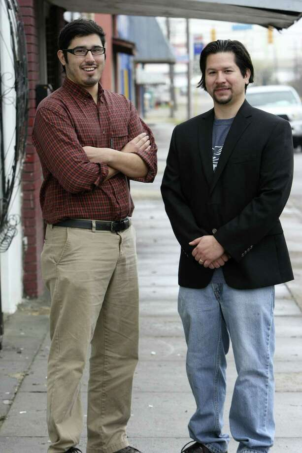 Gilbert Morales (left) and Andy Castillo founded the South San Main Street Project.