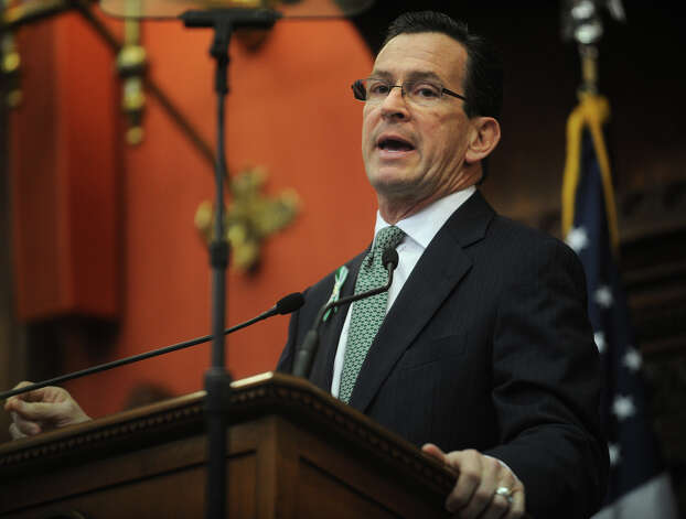 Gov. Dannel P. Malloy delivers his biennial budget address before a joint session of the legislature at the Capitol in Hartford on Wednesday, February 6, 2013. Photo: Brian A. Pounds / Connecticut Post