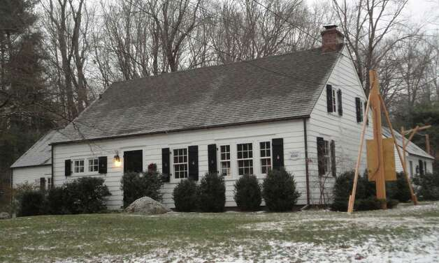 A special historic resource permit is sought for the house at 1 Greenbrier Road, the only wood house in Westport that architect Fraizer Forman Peters built. Thw owners want the permit to facilitate rebuilding a garage on the property that was demolished by a tree uprooted by Superstorm Sandy.  WESTPORT NEWS, CT  2/5/13 Photo: Meg Barone / Westport News freelance