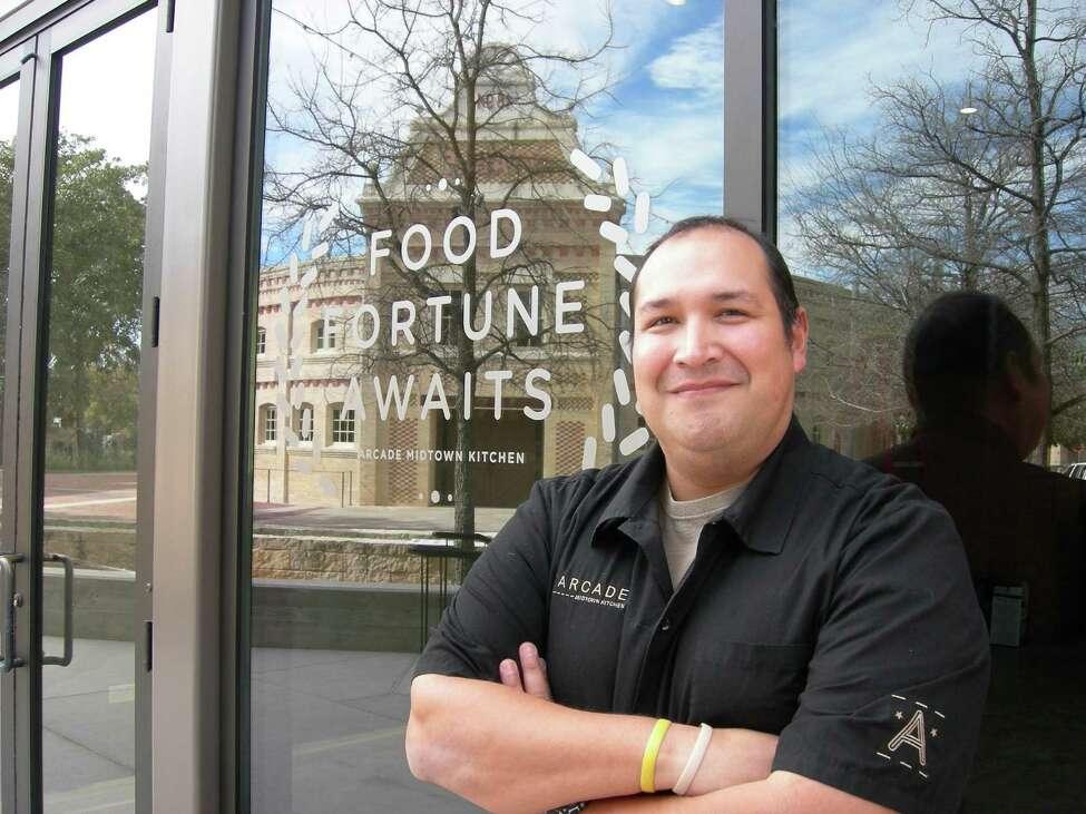 Chef Jesse Perez creates modern Americana cuisine at Arcade Midtown Kitchen.