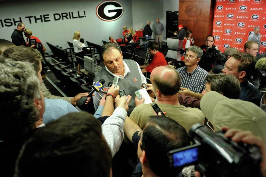 Georgia defensive coordinator Todd Grantham speaks with the media during a national signing day news conference in Athens, Ga., Wednesday, Feb. 6, 2013. (AP Photo/The Athens Banner-Herald, AJ Reynolds)   MAGS OUT; MANDATORY CREDIT Photo: AJ Reynolds, Associated Press / OnlineAthens & The Athens Banner