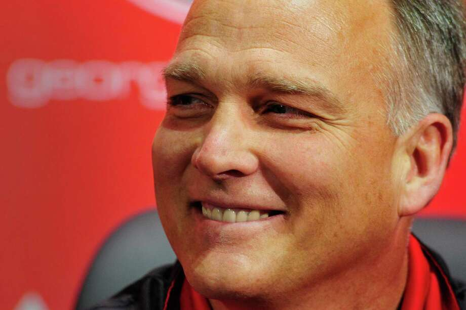 Georgia head coach Mark Richt smiles during a national signing day news conference in Athens, Ga., Wednesday, Feb. 6, 2013. (AP Photo/The Athens Banner-Herald, AJ Reynolds)   MAGS OUT; MANDATORY CREDIT Photo: AJ Reynolds, Associated Press / OnlineAthens & The Athens Banner