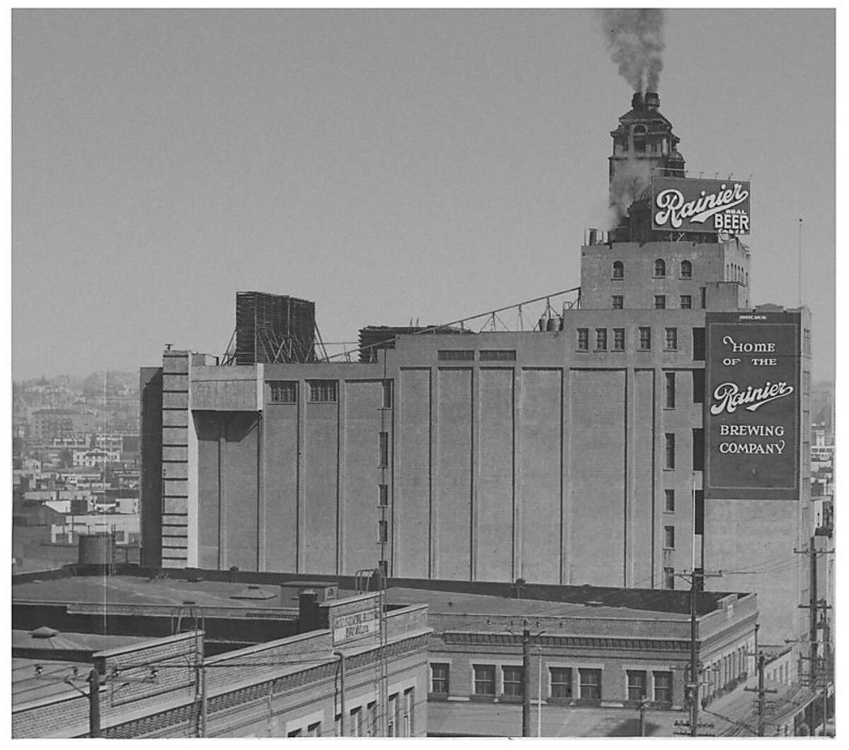 From the 1930s to the 1950s, Rainier Ale had brewing facilities in Seattle and San Francisco, including this one at 1800 Bryant St.