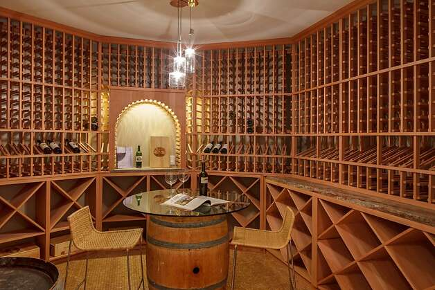 The wine room has a floor made of cork and can hold 1,520 bottles of wine. Photo: Jacob Elliott Photography
