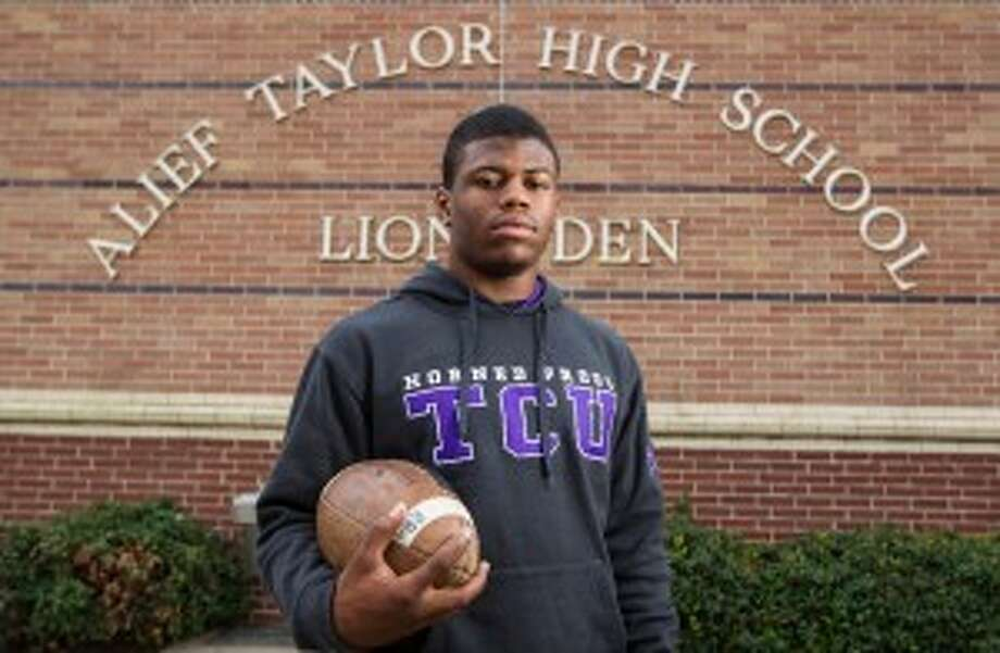 Alief Taylor running back Trevorris Johnson will play for Texas Christian during his college years. (Karen Warren/Houston Chronicle)