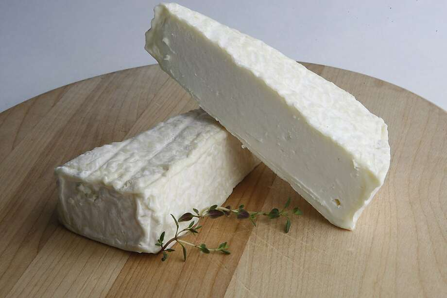Andante Dairy of Petaluma's latest offering is Duet, a soft-ripened goat cheese. Infused almost imperceptibly with thyme, it's supple and creamy. Photo: Liz Hafalia, The Chronicle
