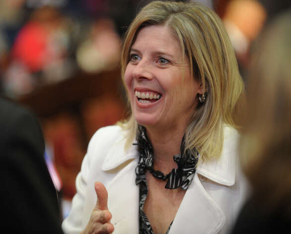 Fairfield Rep. Kim Fawcett attends Gov. Dannel P. Malloy's budget address before a joint session of the legislature at the Capitol in Hartford on Wednesday, February 6, 2013. Photo: Brian A. Pounds / Connecticut Post