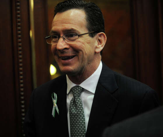 Gov. Dannel P. Malloy, following his biennial budget address before a joint session of the legislature at the Capitol in Hartford on Wednesday, February 6, 2013. Photo: Brian A. Pounds / Connecticut Post