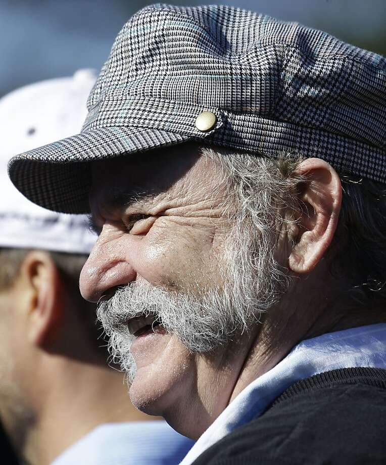 Actor Bill Murray smiles on the Pebble Beach Golf Links during the celebrity challenge event of the AT&T Pebble Beach Pro-Am golf tournament Wednesday, Feb. 6, 2013 in Pebble Beach, Calif. (AP Photo/Ben Margot) Photo: Ben Margot, Associated Press
