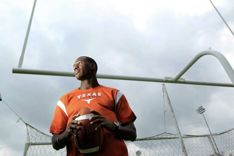 Cypress Falls wide receiver Jacorey Warrick who has committed to Texas is photographed Tuesday, Jan.