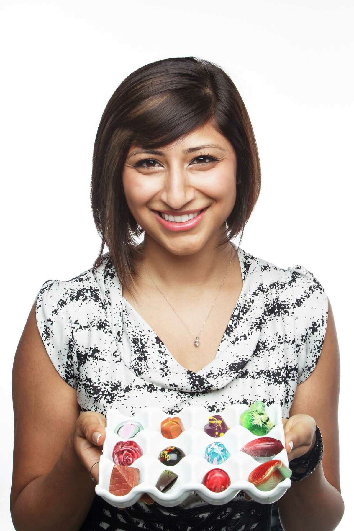 Annie Rupani, owner of Cacao & Cardamom chocolate company