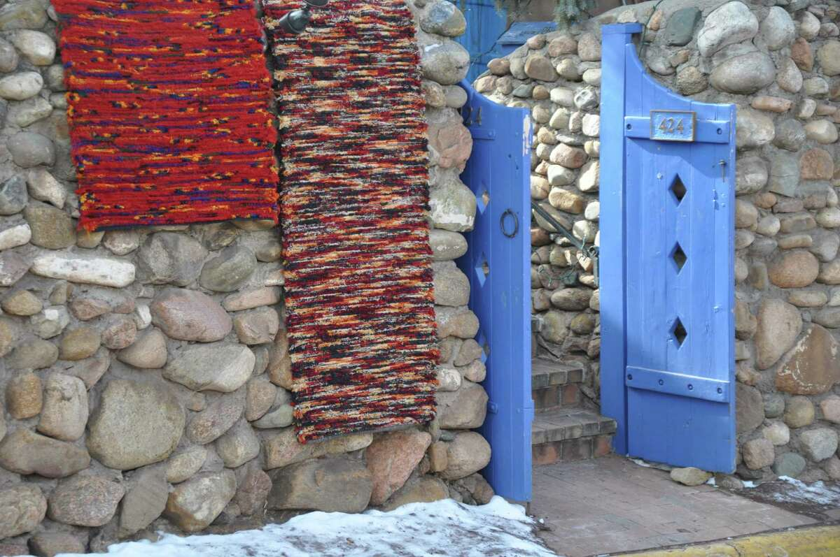 Canyon Road is lines with art galleries in Santa Fe, N.M.