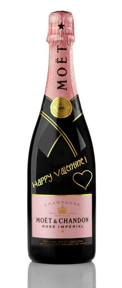 "I Heart YouMoët & Chandon's ""Declare Your Love"" package comes with adhesive  embellishments to customize your bottle of rose champagne for  Valentine's Day; $52.99 at Spec's, 2410 Smith. Photo: Moet & Chandon / Moet & Chandon"