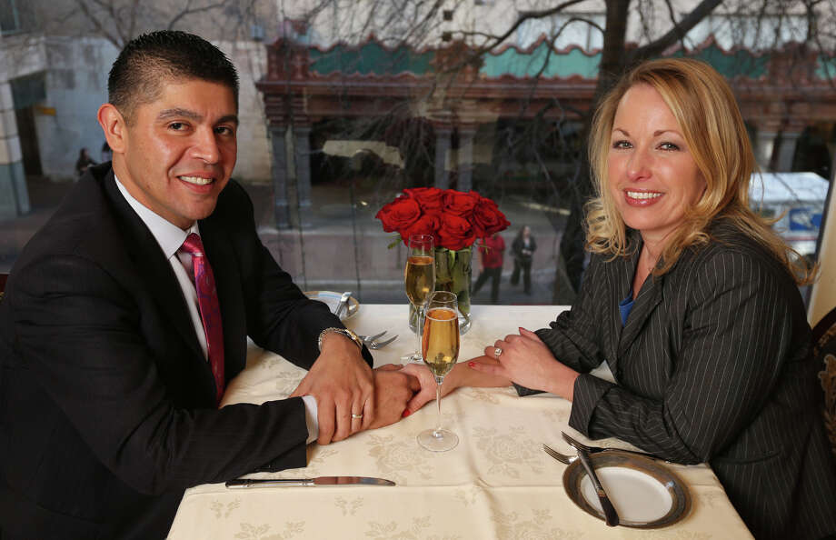 Carlos Faz and Jenny Rabb say if it weren't for work, they wouldn't see much of each other. He is assistant GM at Bohanan's and Rabb is director of catering. Photo: Edward A. Ornelas, San Antonio Express-News / © 2013 San Antonio Express-News