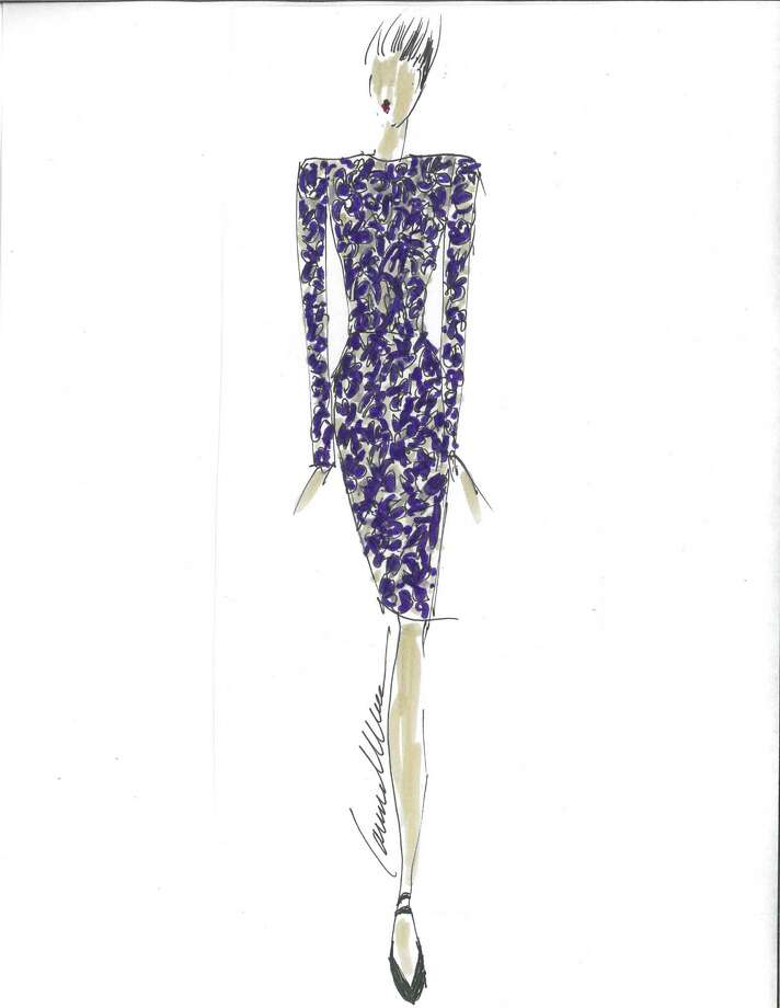 Carmen Marc Valvo's 2013 fall collection will include elegant long-sleeve dresses. Photo: Courtesy
