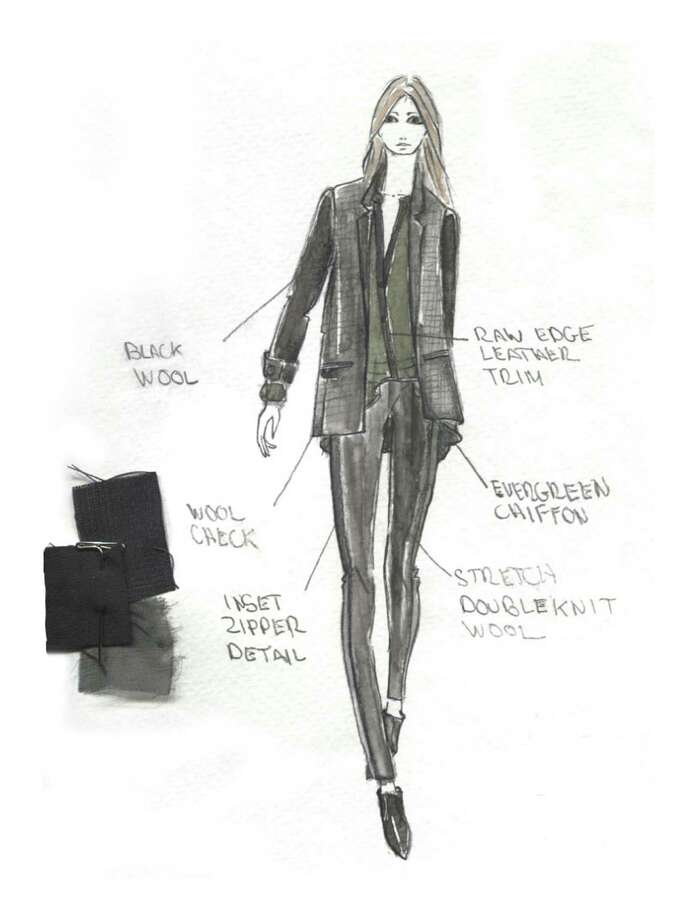 Designer Elie Tahari says he designs pieces that the classic, modern, and stylish woman wants. Here's a sketch of his fashion vision for next fall when he presents his collection during New York's Fashion Week when the fall 2013-14 collections will be presented.