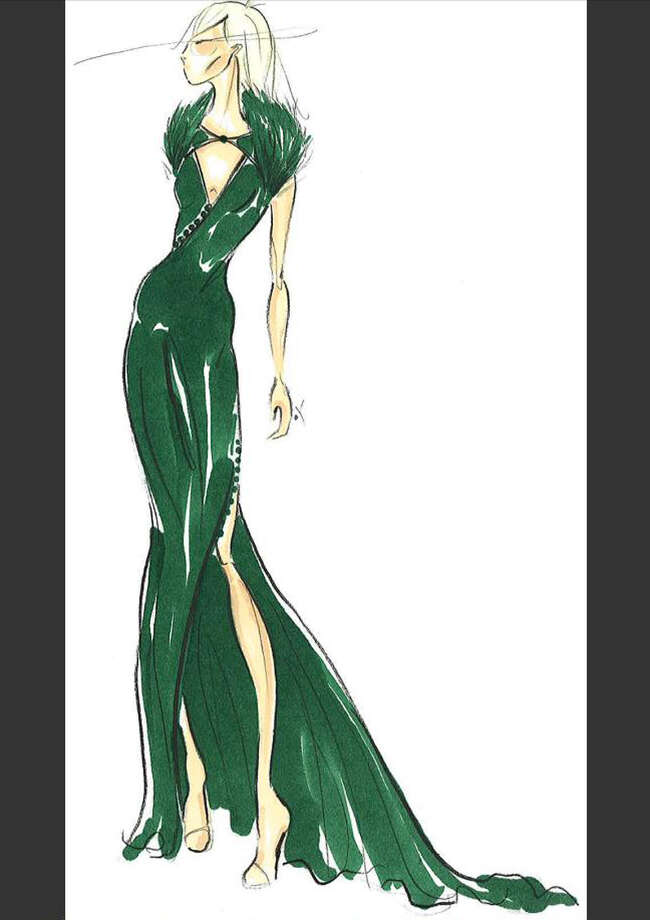 Pamella Roland will create an evening gown in brilliant green as part of her 2013 collection. Photo: Courtesy