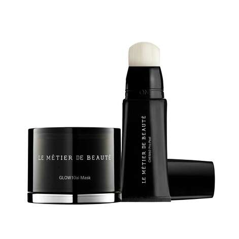 Le Metier de Beaute's new CHEM60 Pro-Peel & GLOW10ai Mask Set is said to leave skin feeling energized, hydrated and glowing. It can be applied 2-3 times per week and the two-piece set costs $265, available exclusively at Neiman Marcus. Photo: Le Metier De Beaute