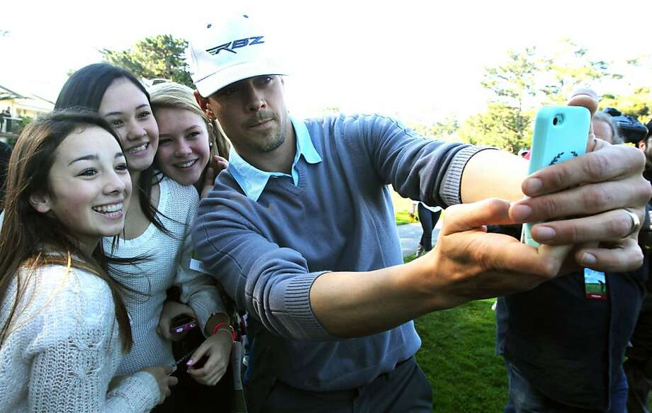 Actor-Model Josh Duhamel takes his picture with L to R Jessica Plinck, Presley Pasquel and Nicole Dowell all 14 from Carmel Calif, during the 3M Celebrity Challenge shootout at the AT&T Pebble Beach National Pro-Am Golf Tournament on Tuesday, February 6th, 2013 in Pebble Beach, Calif. Photo: Lance Iversen, The Chronicle