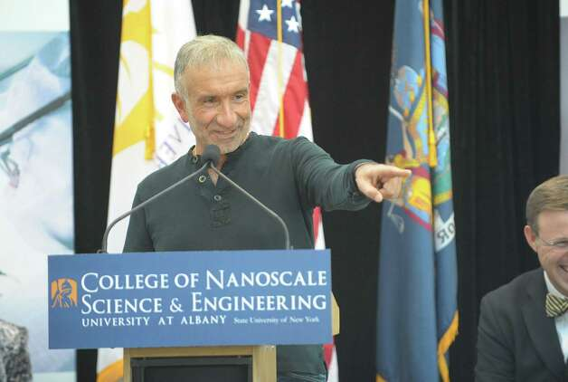 Alain Kaloyeros, senior vice president and CEO of  College of Nanoscale Science and Engineering addresses those gathered for an event on Wednesday, Feb. 6, 2013 at CNSE in Albany, NY.  The press conference was held to announce that the Children's Museum of Science and Technology will be integrated into CNSE.   (Paul Buckowski / Times Union) Photo: Paul Buckowski  / 10021061A