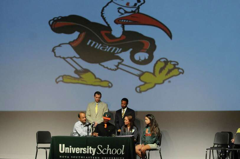 University School athlete Sebastian Diaz signs with the University of Miami Wednesday, February 6, 2