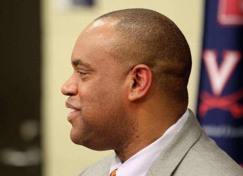 Virginia head football coach Mike London talks about the school's recruiting class during a news conference on national signing day, Wednesday, Feb. 6, 2013, in Charlottesvile, Va. Photo/The Daily Progress, Andrew Shurtleff) Photo: Andrew Shurtleff, Associated Press / The Daily Progress
