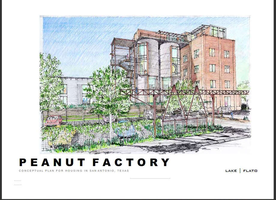 Conceptual art for the Peanut Factory Lofts.