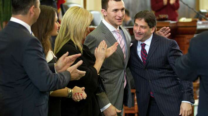 Johnny Manziel honored by Texas Legislature.