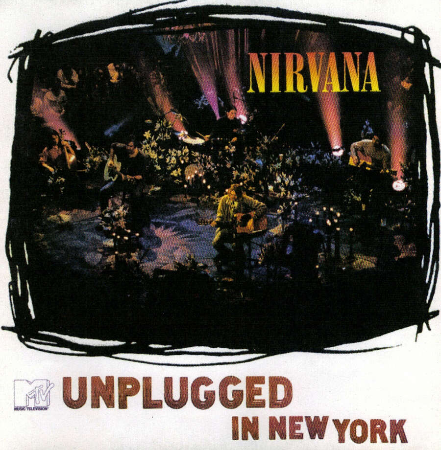 """Nirvana -– """"MTV Unplugged in New York:""""The breakout Seattle band released their first album, """"Bleach,"""" in 1989 and their first major-label record """"Nevermind"""" in 1991. But this live disc – in which the bucked the Unplugged trend and played almost none of their big songs – is considered by some to be the all-time best Unplugged performance. It also was the bands first official live album. It debuted at No. 1 on the Billboard 200 Albums chart and had sold 5 million copies by 1997. (Album cover)"""