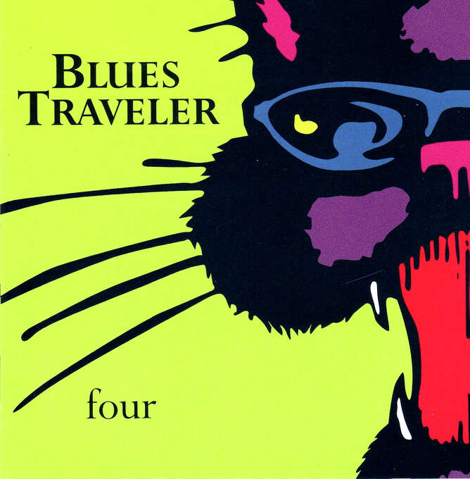 "Blues Traveler – ""Four:"" This 1994 album was the band's major-label breakthrough and included the still-catchy ""Run-Around"" and ""Hook."" (Album cover)"