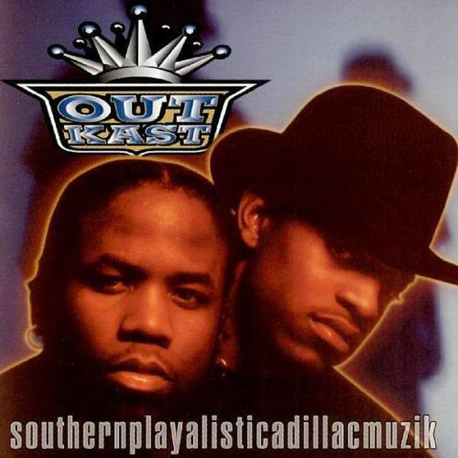 "OutKast – ""Southernplayalisticadillacmuzik:"" You've heard of OutKast, right? Of course you have, or at least their songs. Their debut album was released in 1994 and it peaked at No. 20 on the Billboard 200 Albums chart. (Album cover)"