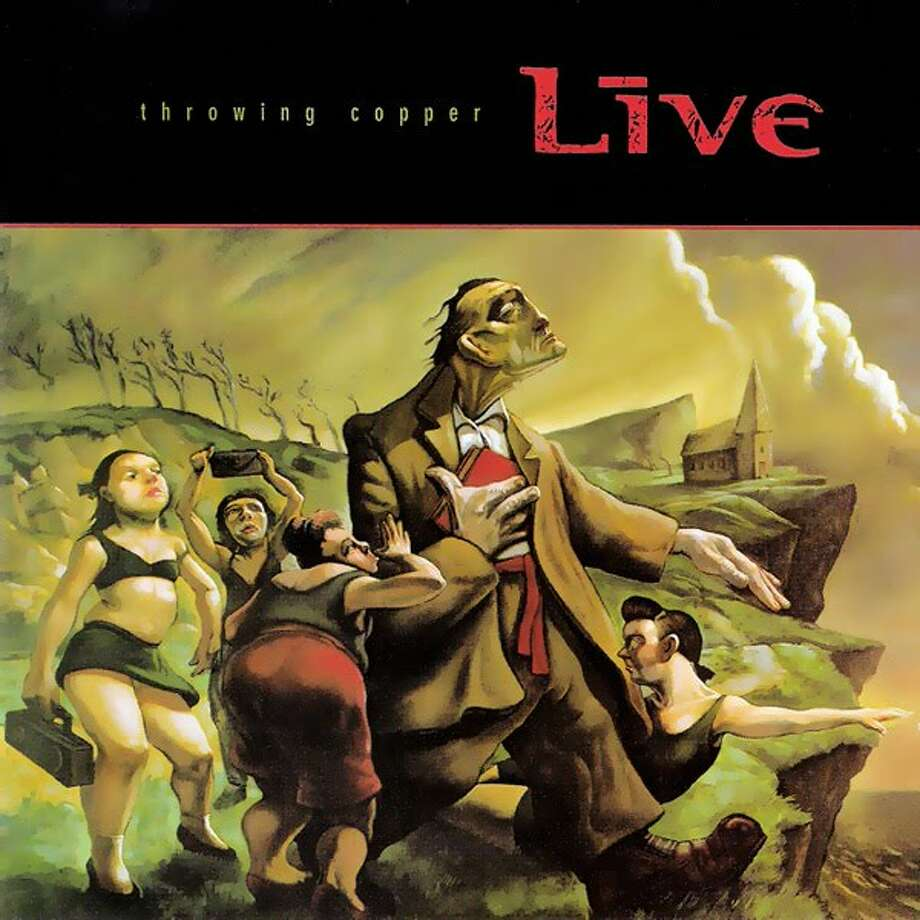 """Live – """"Throwing Copper:""""The """"Lighting Crashes"""" video was on MTV about ever third song the year after this 1994 album was released, and overall the record has sold more than eight million copies in the U.S. (Album cover)"""