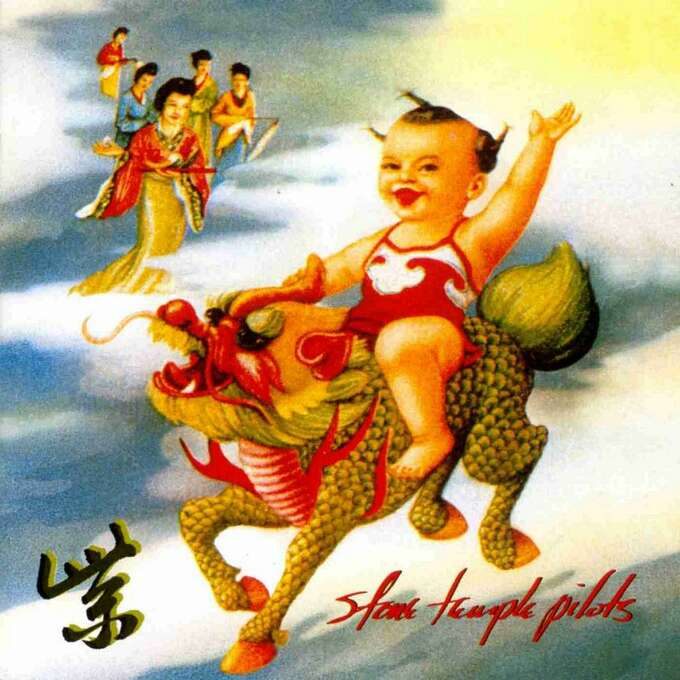 """Stone Temple Pilots – """"Purple:"""" The band's second studio album, released in 1994, included """"Interstate Love Song,"""" and """"Vasoline."""" It debuted at No. 1 on the Billboard 200 Albums chart. (Album cover)"""