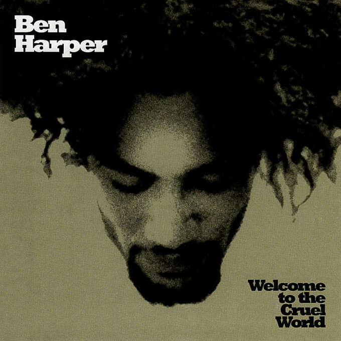 """Ben Harper – """"Welcome to the Cruel World:"""" This was the 13-track debut album that included """"Forever,"""" """"Walk Away,"""" and """"Waiting on an Angel."""" It also had a hidden track after the last track, """"I'll Rise."""" It didn't do well on the U.S. charts, but Harper has gained a considerable following here. The record went to No. 11 on the French Albums Chart in 1998. (Album cover)"""