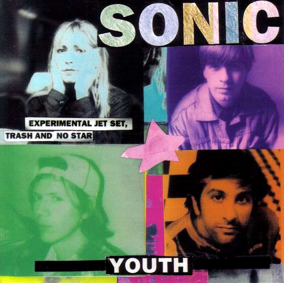 "Sonic Youth ""Experimental Jet Set, Trash and No Star:"" This was the band's eighth album, but included one of their biggest hits, ""Bull in the Heather."" The record went to No. 13 in the U.S. on the Billboard Modern Rock Tracks and hit No. 10 on the UK Albums Chart. (Album cover)"
