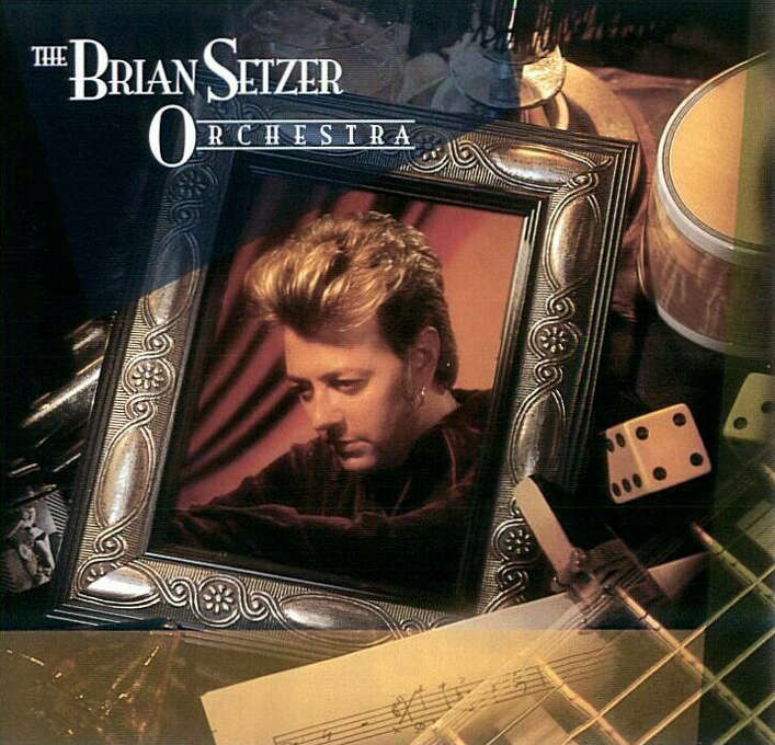 """The Brian Setzer Orchestra – """"The Brian Setzer Orchestra:"""" This was the band's first official studio release that helped lead to the mid-90s swing craze. This record had a cover of """"Route 66"""" and others - it was a later album that had """"Jump Jive and Wail."""" (Album cover)"""