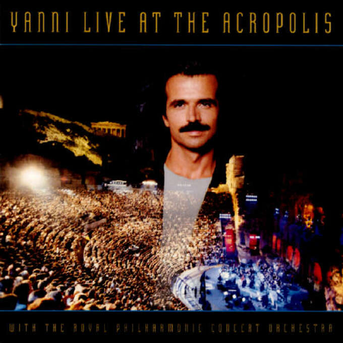 """Yanni – """"Yanni Live at the Acropolis:"""" I know, I know. But Yanni cleaned house financially in 1994 The video of this performance spent 229 weeks on Billboard's """"Top Music Video"""" charts and was nominated for an Emmy. The album also sold millions of copies. (Album cover)"""
