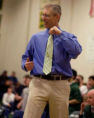 New Milford coach Chris Piel. Photo: Barry Horn