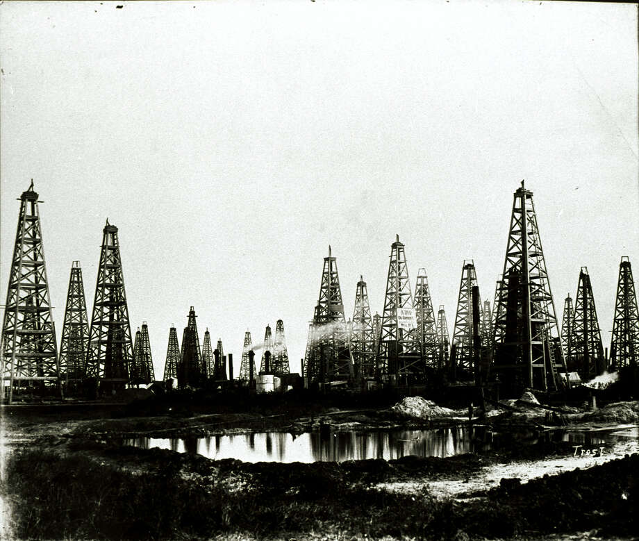 One well struck oil at Spindletop in 1901. Two years later, the hill was covered with derricks. Now a new group wants to drill even deeper. / handout CD