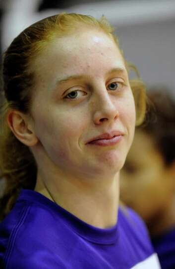 UAlbany's Julie Forster poses for a portrait before playing against UMBC's during their America East