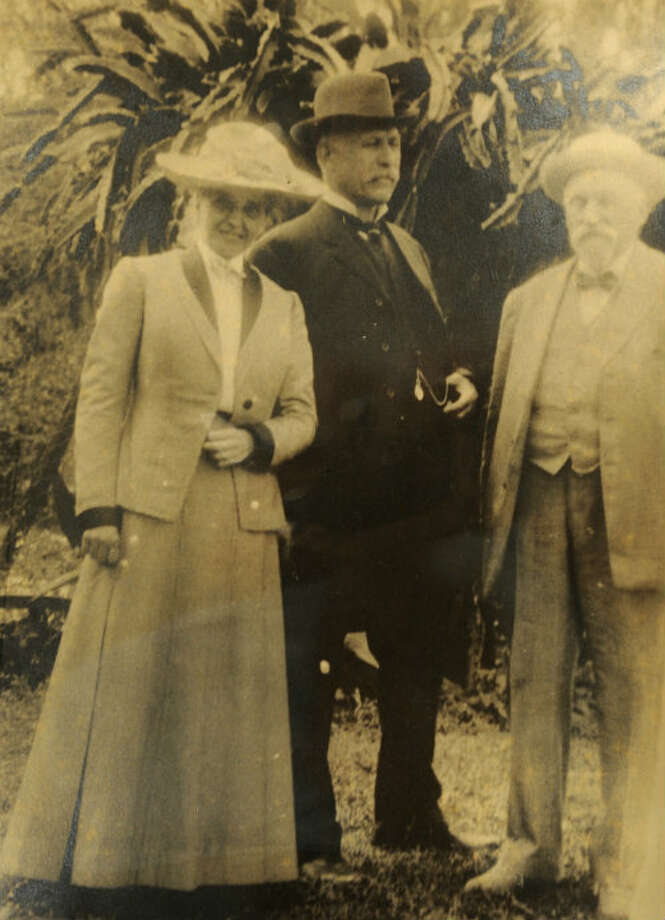Caroline Lucas and Anthony Lucas, the Austrian petroleum engineer who discovered the Spindletop oil field in 1901.