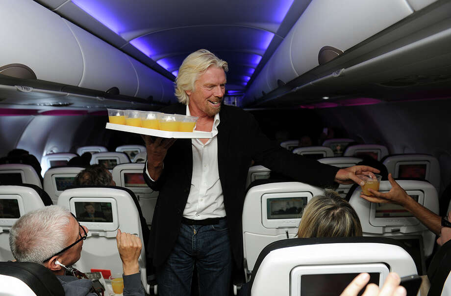 Virgin Group CEO Sir Richard Branson has made a name for himself by breaking or attempting to break numerous world records, usually involving some form of travel. For example, he tried to circle the world in a hot-air balloon.Source: Business Insider Photo: Bob Riha Jr., AP / Virgin America