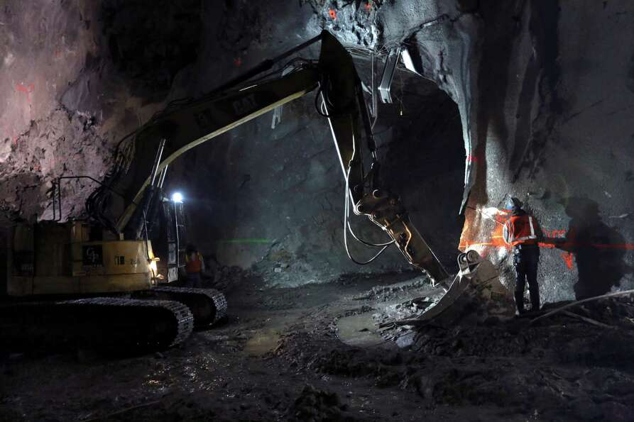 In this Tuesday, Jan. 29, 2013 photo, contractors work on the East Side Access project beneath midto