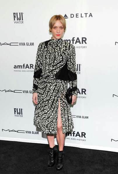 Actress Chloe Sevigny attends amfAR's New York gala at Cipriani Wall Street on Wednesday, Feb. 6, 20