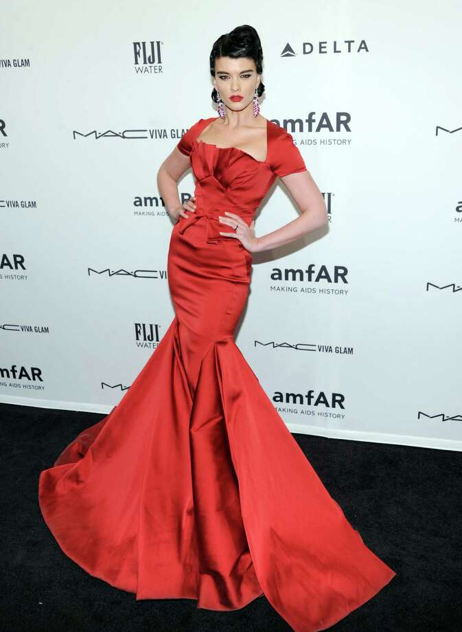 Model Crystal Renn attends amfAR's New York gala at Cipriani Wall Street on Wednesday, Feb. 6, 2013 in New York. Photo: Evan Agostini, Evan Agostini/Invision/AP / Invision