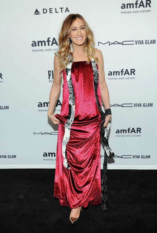 Actress Sarah Jessica Parker attends amfAR's New York gala at Cipriani Wall Street on Wednesday, Feb. 6, 2013 in New York. Photo: Evan Agostini, Evan Agostini/Invision/AP / Invision