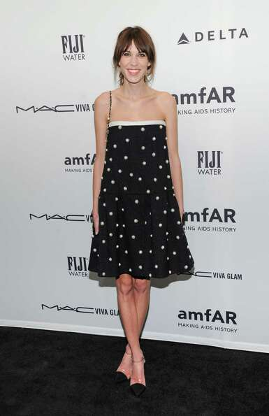 Model Alexa Chung attends amfAR's New York gala at Cipriani Wall Street on Wednesday, Feb. 6, 2013 i